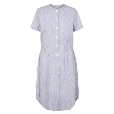Wijd uitlopende halflange bedrukte jurk NUMPH