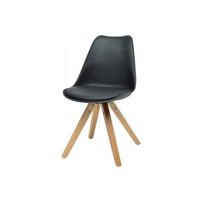 chaise scandinave noire nicolas chaise scandinave noire nicolas declikdeco - Chaise Scandinave Cuir