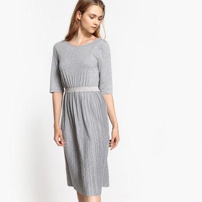 Pleated Midi Length Dress Pleated Midi Length Dress La Redoute Collections