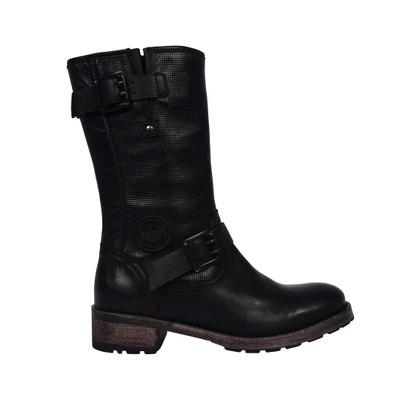 Boots cuir motardes Dina Boots cuir motardes Dina PATAUGAS