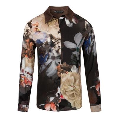 chemise femme chic voile imprimé fleurs willow chemise femme chic voile imprimé fleurs willow BLEU D'AZUR