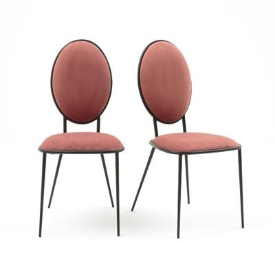 Confezione da 2 sedie a medaglione in metallo e velluto, NOVANI Confezione da 2 sedie a medaglione in metallo e velluto, NOVANI La Redoute Interieurs