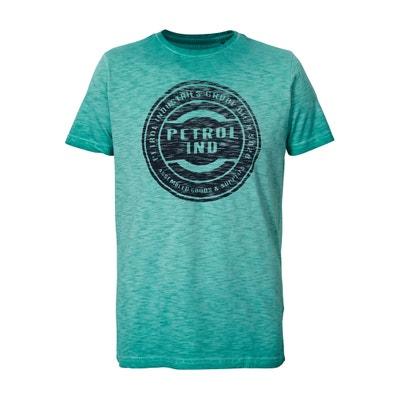 Plain Short-Sleeved Crew Neck T-Shirt PETROL INDUSTRIES