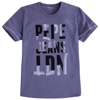 T-Shirt mit Rundhalsausschnitt, unifarben PEPE JEANS