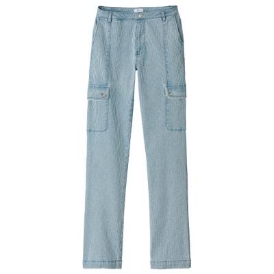 Gerade, gestreifte Cargo-Jeans Gerade, gestreifte Cargo-Jeans La Redoute Collections