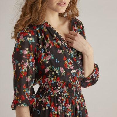 Flared Floral Print Midi Dress Flared Floral Print Midi Dress RENE DERHY
