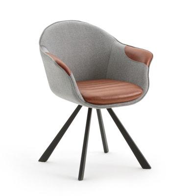 Кресло обеденное из двух материалов, BIFACE La Redoute Interieurs