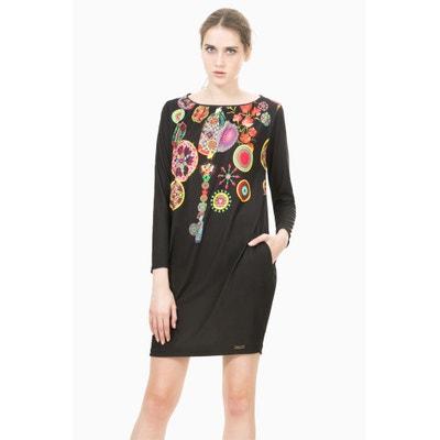 Bedrukte jurk met lange mouwen, Vest Estela DESIGUAL