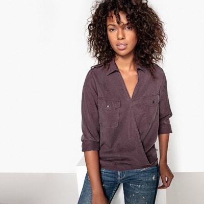Wrapover Shirt Style Blouse LE TEMPS DES CERISES