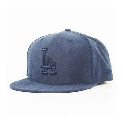 Casquette New Era LA Dodgers Aspect Daim Bleu Marine Casquette New Era LA  Dodgers Aspect Daim 2e85a30d54dc