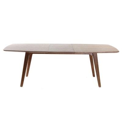 Table à manger design extensible noyer FIFTIES MILIBOO