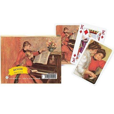 Jeu de cartes : Coffret de 2 x 55 cartes : Renoir : Leçon de piano PIATNIK