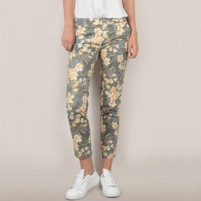 Floral Print Slim Fit Cigarette Trousers Floral Print Slim Fit Cigarette Trousers MOLLY BRACKEN