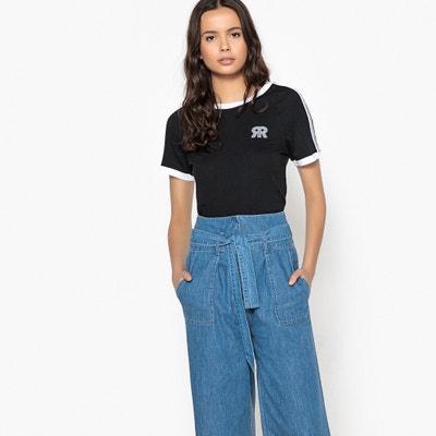 Camiseta lisa con cuello redondo y manga corta Camiseta lisa con cuello redondo y manga corta La Redoute Collections