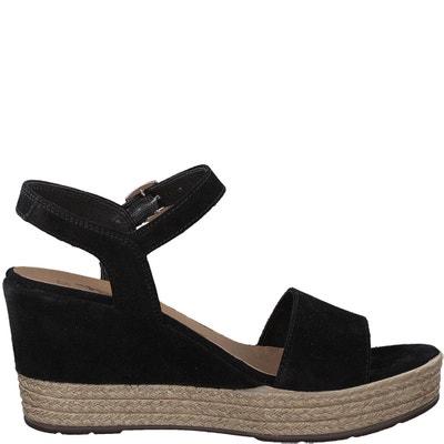 Leren sandalen met sleehak Vivana Leren sandalen met sleehak Vivana TAMARIS