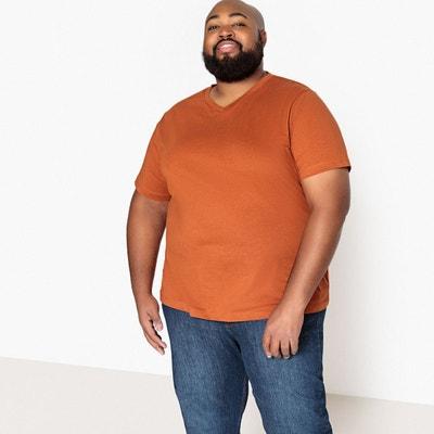T-shirt grande taille col v manches courtes T-shirt grande taille col v manches courtes CASTALUNA FOR MEN