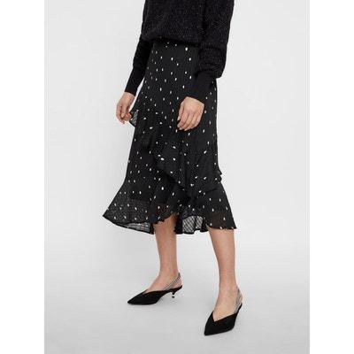 Court Elastique Solde Redoute Femme La Taille Jupe Noir En FqCPII