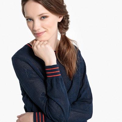 Пуловер с круглым вырезом из тонкого трикотажа Пуловер с круглым вырезом из тонкого трикотажа MADEMOISELLE R
