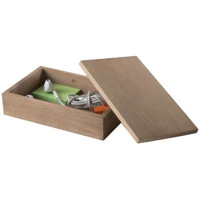 Boîte à couvercle en bois « Vintage » COMPACTOR