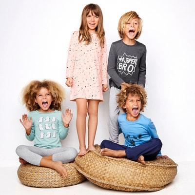 Pyjama bicolore en coton 3-12 ans Pyjama bicolore en coton 3-12 ans La Redoute Collections