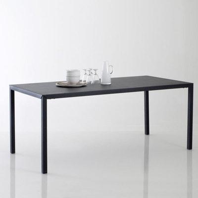 Table repas métal noir mat 6 couverts, Hiba Table repas métal noir mat 6 couverts, Hiba LA REDOUTE INTERIEURS