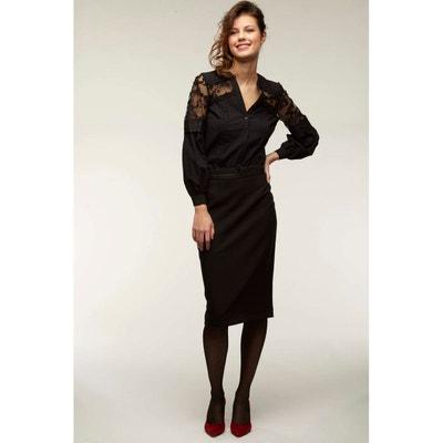 Jupe longue noire femme en solde   La Redoute 200a549e0bf1