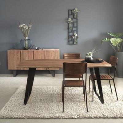 Chaise industrielle classique cuir et métal style bistrot  |  ME MADE IN MEUBLES