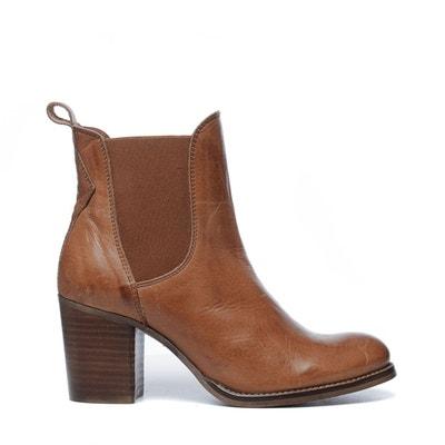 c1429945ef4f3 Boots cuir marron femme en solde   La Redoute