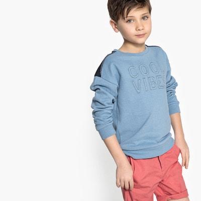 Slogan Sweatshirt, 3-12 Years La Redoute Collections