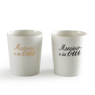 Set of 2 Porcelain Wedding Cups Set of 2 Porcelain Wedding Cups La Redoute Interieurs