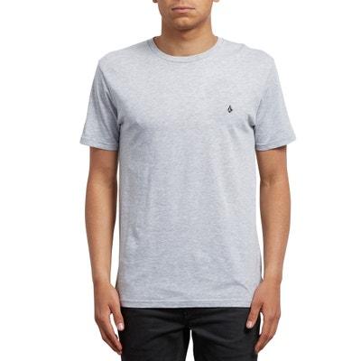 T-shirt con scollo rotondo tinta unita, maniche corte T-shirt con scollo rotondo tinta unita, maniche corte VOLCOM