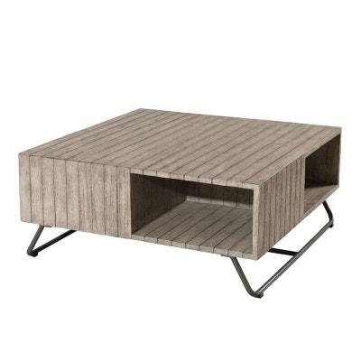 Table basse de jardin en bois   La Redoute