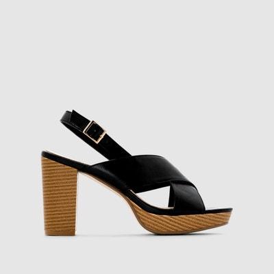 Platform Sandals with Crossover Straps CASTALUNA