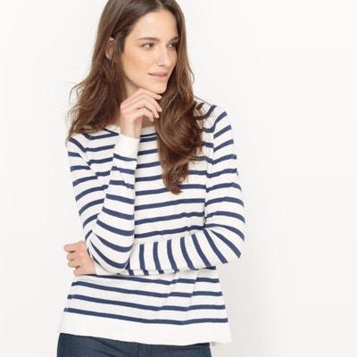 Camisola à marinheiro, algodão e seda Camisola à marinheiro, algodão e seda La Redoute Collections