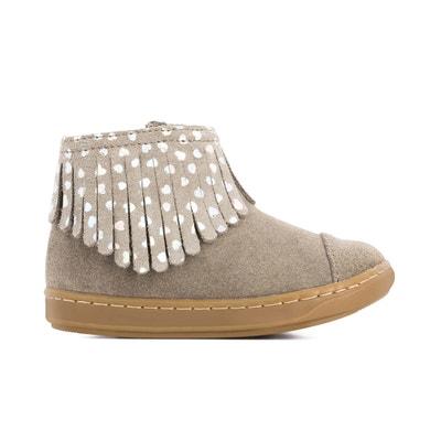 Bouba Fringe Leather Boots with Fringing HAVAIANAS