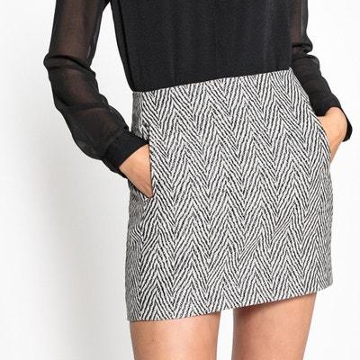 Jacquard Print Mini Skirt SEE U SOON
