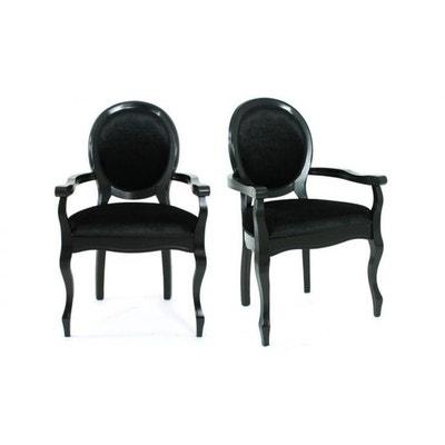 lot de 2 chaises mdaillon en tissu henry lot de 2 chaises mdaillon en tissu henry - Chaise Gain De Place