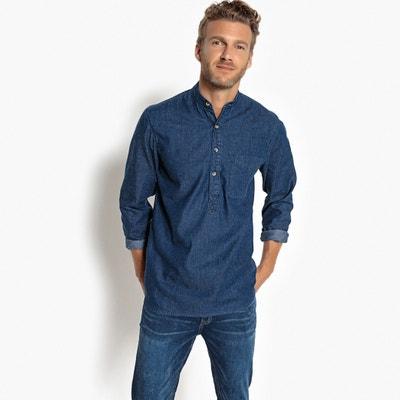 Рубашка прямого покроя с воротником-стойкой и длинными рукавами Рубашка прямого покроя с воротником-стойкой и длинными рукавами La Redoute Collections