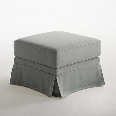 pouf gris et blanc la redoute. Black Bedroom Furniture Sets. Home Design Ideas