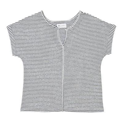 Striped Linen Blend T-Shirt La Redoute Collections