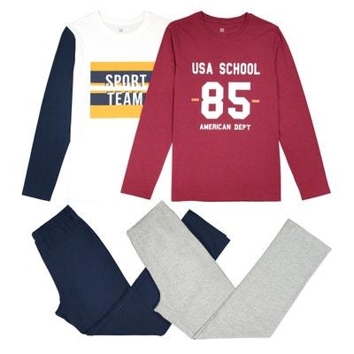 Confezione da 2 pigiami fantasia, 10-16 anni Confezione da 2 pigiami fantasia, 10-16 anni La Redoute Collections