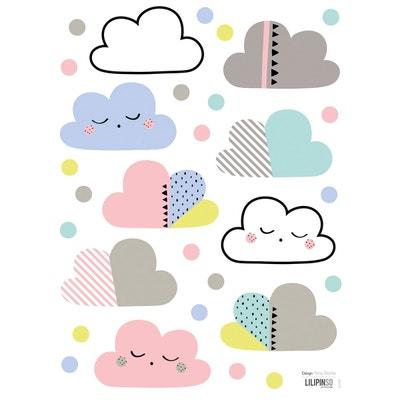Stickers nuages et pois multicolore Stickers nuages et pois multicolore LILIPINSO