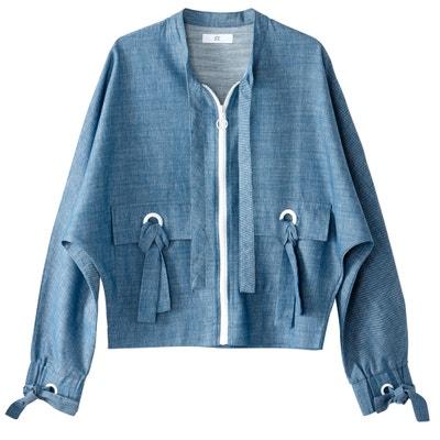 Jacke mit Reissverschluss Baumwolle/Leinen Jacke mit Reissverschluss Baumwolle/Leinen La Redoute Collections