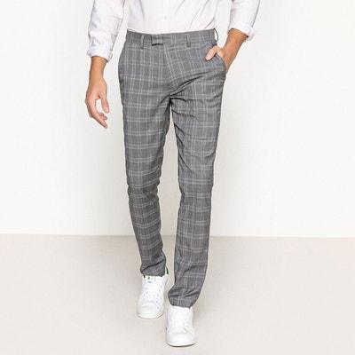 Pantalon slim à carreaux La Redoute Collections