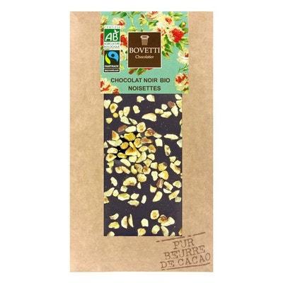 Tablette chocolat noir Bio noisette - Tablette 100g Tablette chocolat noir Bio noisette - Tablette 100g BOVETTI
