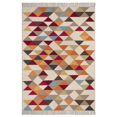 Geweven tapijt met kilim motief in wol Murray AM.PM.