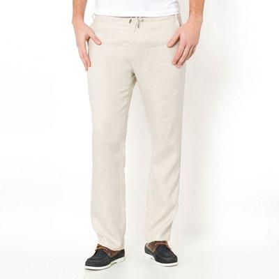 Sortie Des Achats En Ligne Gros Rabais CASTALUNA FOR MEN Pantalon pur lin taille élastiquée kvzywyE0