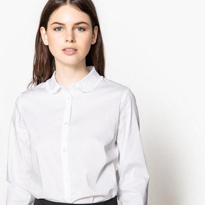 Camisa com gola claudine e base das mangas a contrastar Camisa com gola claudine e base das mangas a contrastar MADEMOISELLE R