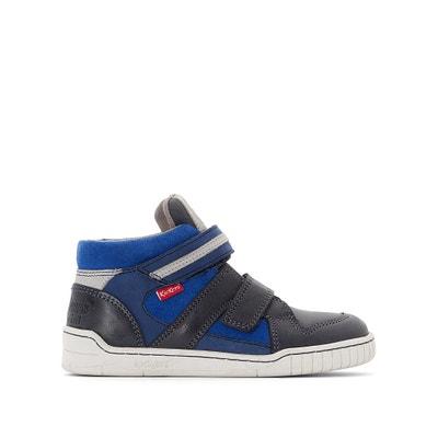 Hohe Sneakers Wazap aus Leder, Klettverschluss Hohe Sneakers Wazap aus Leder, Klettverschluss KICKERS