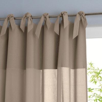 Osmain Pure Cotton Tie Top Single Voile Panel Osmain Pure Cotton Tie Top Single Voile Panel La Redoute Interieurs
